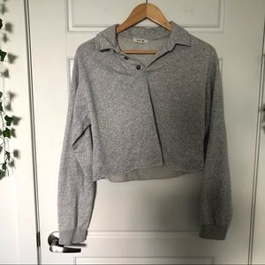 Garage    Cropped Polo Sweater